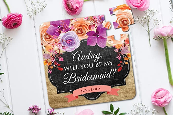 amazon com will you be my bridesmaid puzzle invitation bridesmaid
