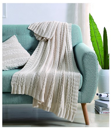 Dublin Cable Knit Throw : Target