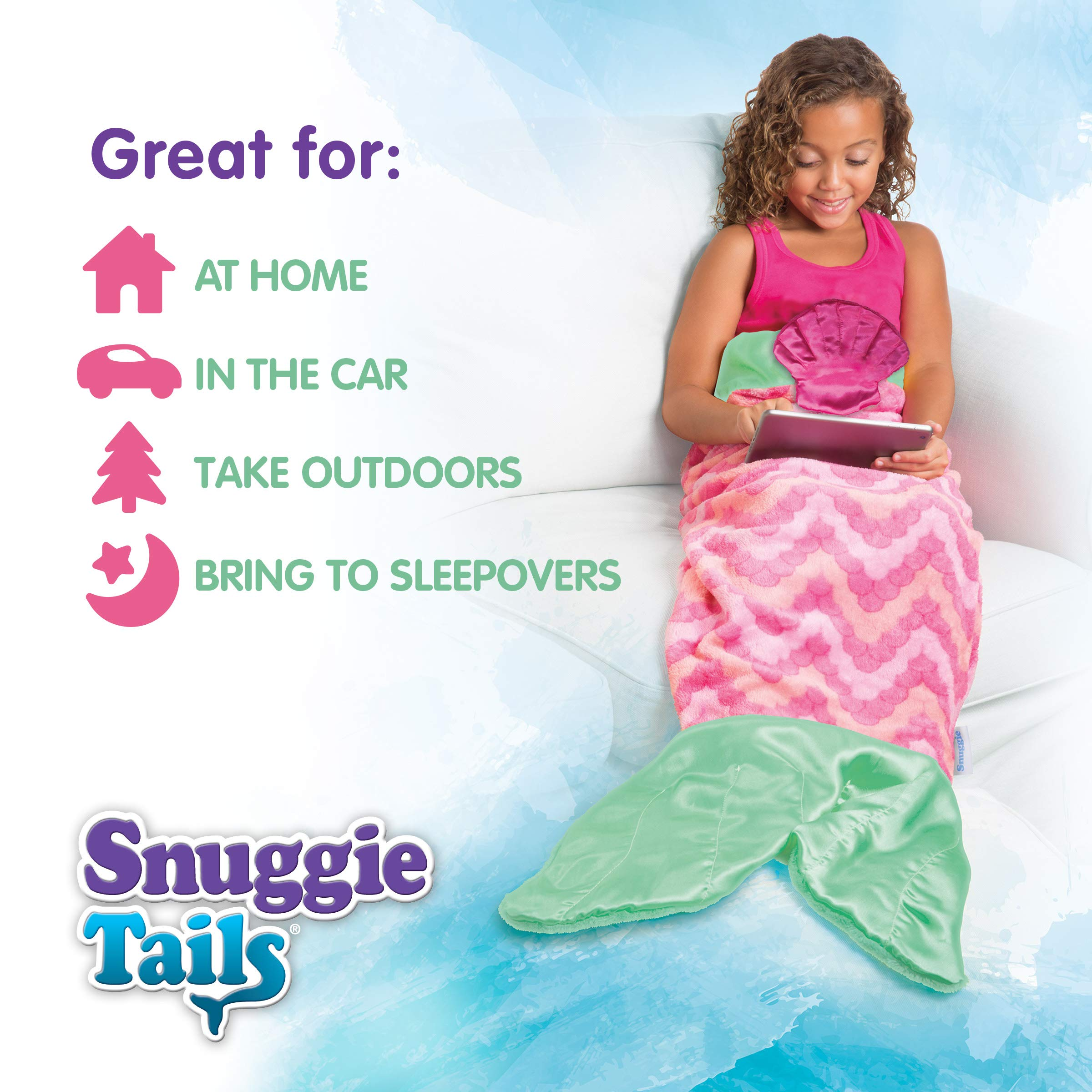 Snuggie Tails Allstar Innovations Mermaid Blanket for Kids (Pink), As Seen on TV by Snuggie Tails (Image #5)