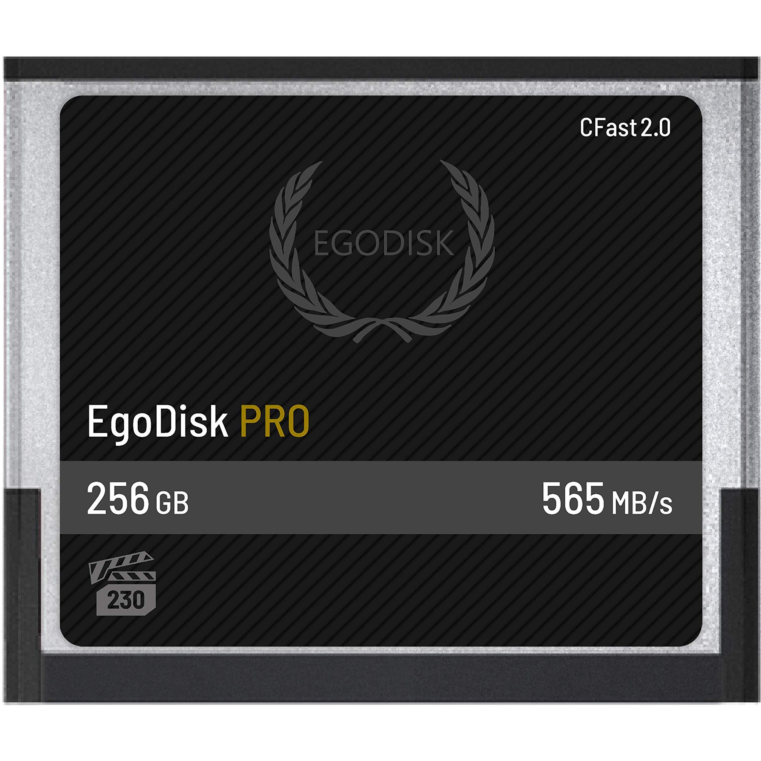 EgoDisk PRO 256GB CFast 2.0 Card - (BLACKMAGIC DESIGN URSA MINI 4K • 4.6K   CANON • XC10 • XC15 • 1DX MARK II • C200   HASSELBLAD H6D-50C • H6D-100C   ATOMOS   PHANTOM VEO S) - 3 Year Warranty by EgoDisk