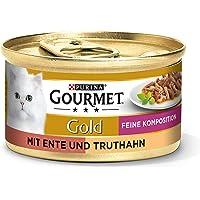 PURINA GOURMET Gold Feine Composition kattenvoer nat, met eend en kalkoen, verpakking van 12 stuks (12 x 85 g)