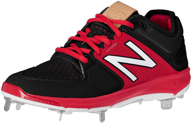 (ニューバランス) New Balance メンズ L3000v3 野球スパイクシューズ B01CQSVEM6 7.5 2E US|ブラック/レッド ブラック/レッド 7.5 2E US