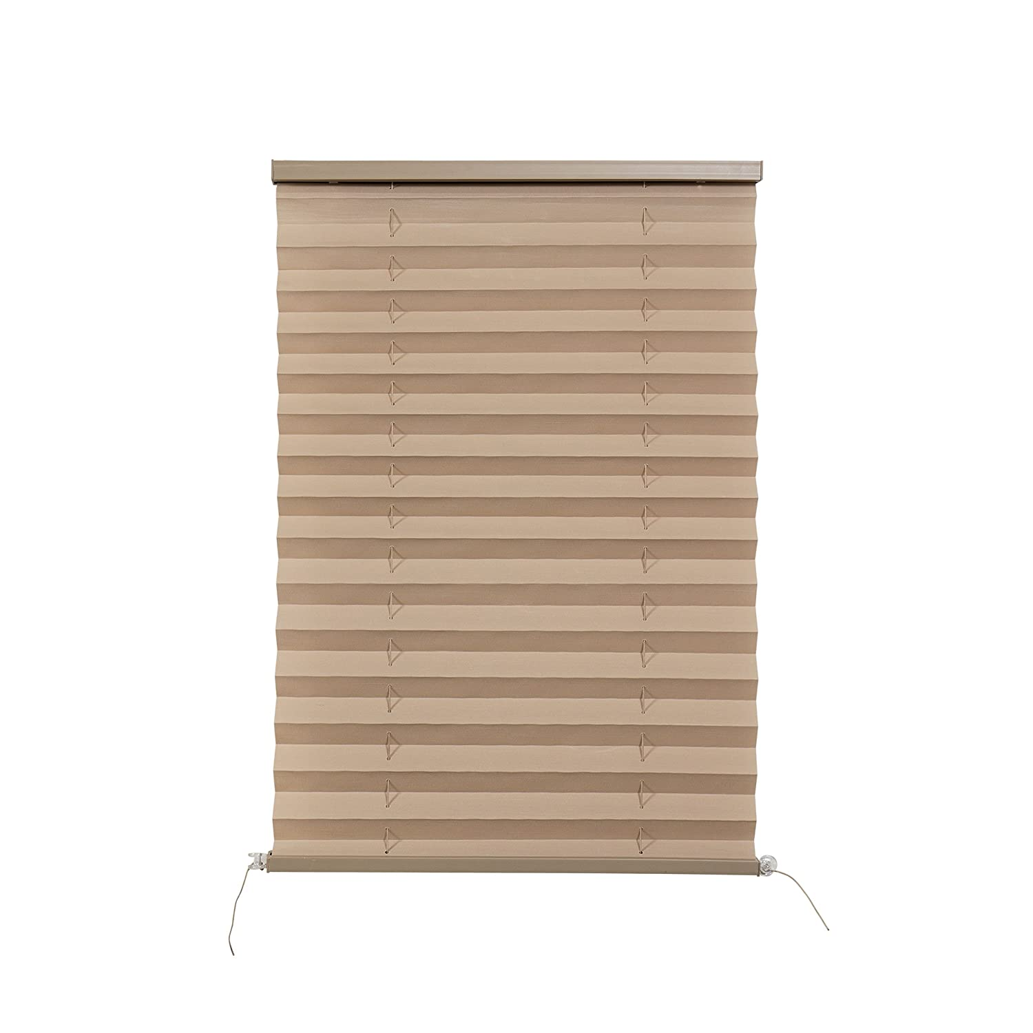 """RV Camper Pleated Blind Shades Cappuccino (32""""x24"""") Irvine Shade and Door"""
