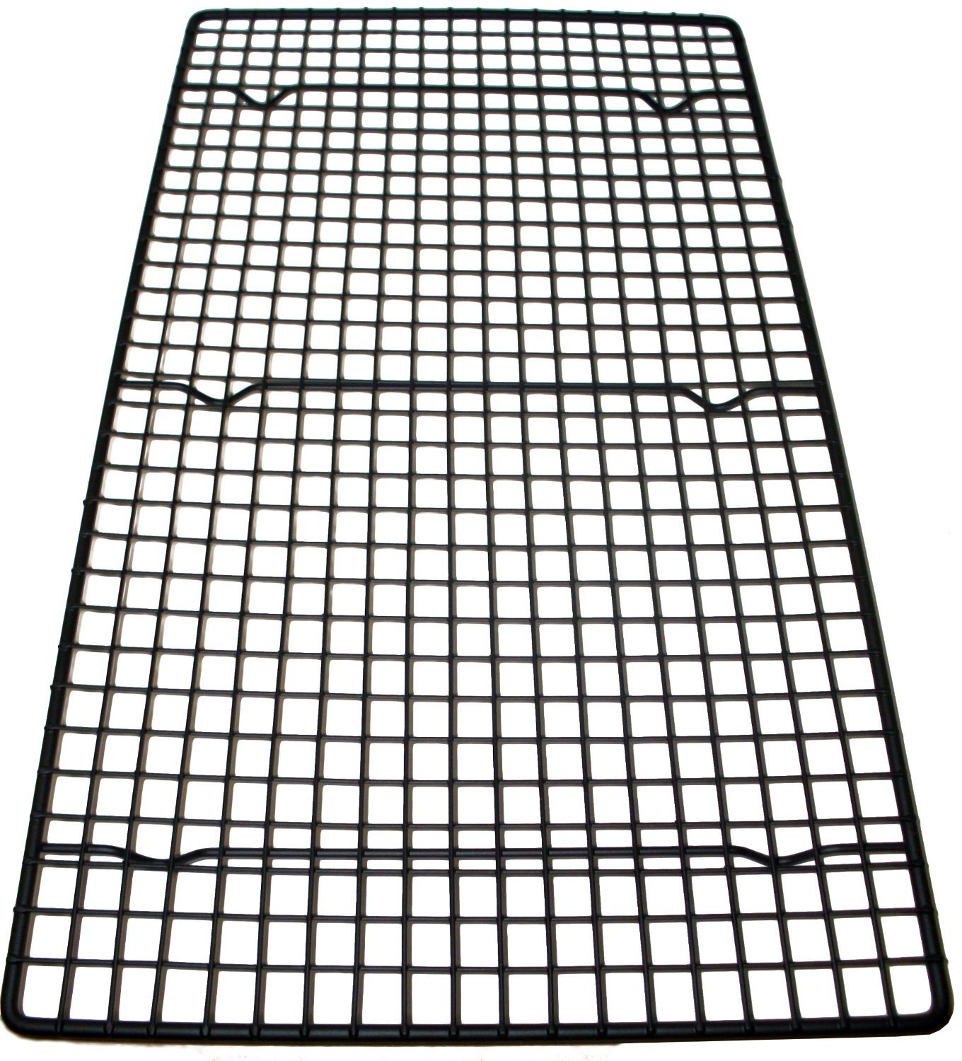 Southern Homewares Oversized Wire Baking Cooling Non-Stick Rack, 18 x 10, Black Cookie Pan 18 x 10 SH-10050