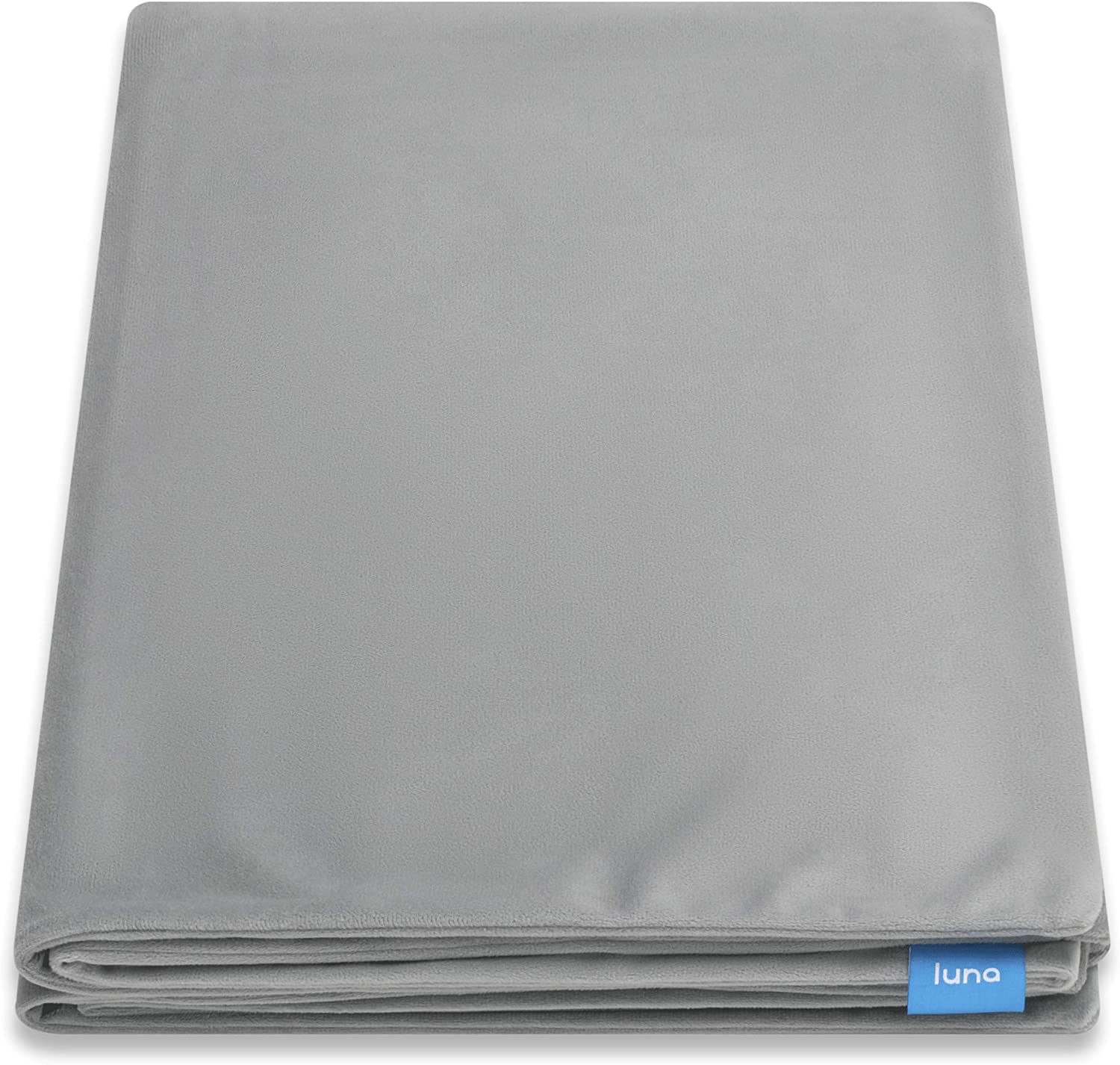 LUNA Removable Duvet Cover for Weighted Blanket | 60x80 - Queen Size | 100% Oeko-Tex Certified Polyester Minky Fleece | Machine Washable & 8 Ties for Secure Fastening | Designed in USA | Grey