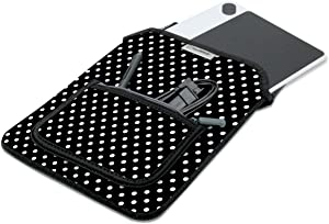 USA GEAR Soft Tablet Sleeve Case Compatible with Boogie Board 8.5 inch, Wacom Intuos Creative Small CTL4100, Huion Inspiroy H640P Graphics Tablet, and Other 10 inch Pen Drawing Tablets (Polka Dot)