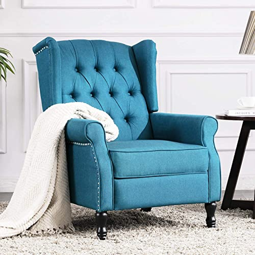 Altrobene Fabric Push Back Recliner Chair