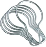 LDR 502 6200 Shower Curtain Rings, Chrome, 12-Pack
