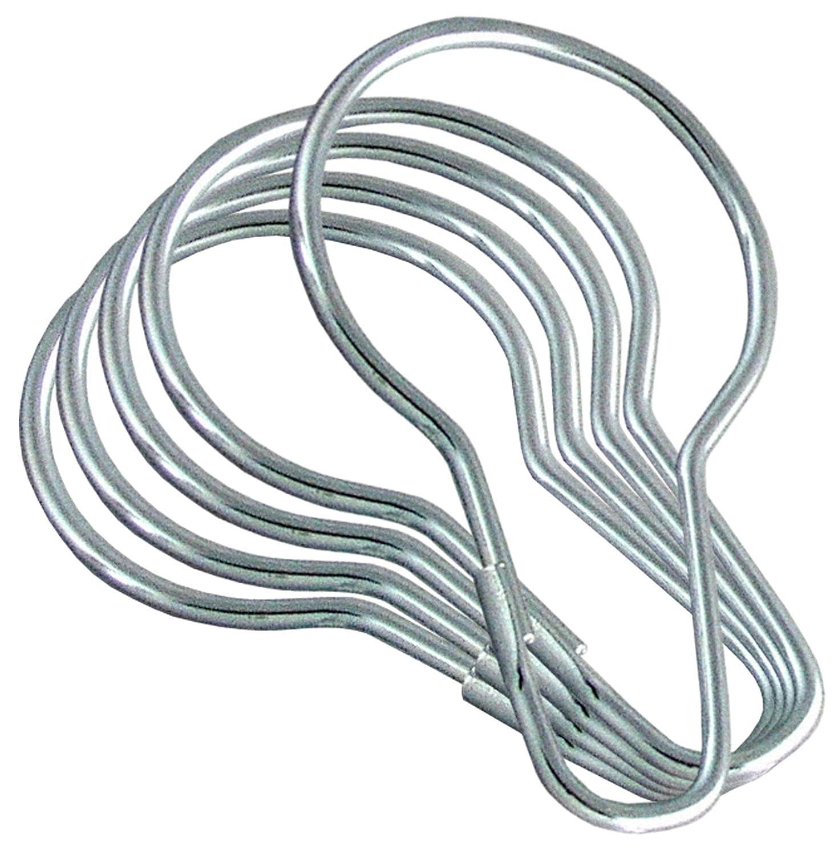 Amazon.com: LDR 502 6200 Shower Curtain Rings, Chrome, 12-Pack ...