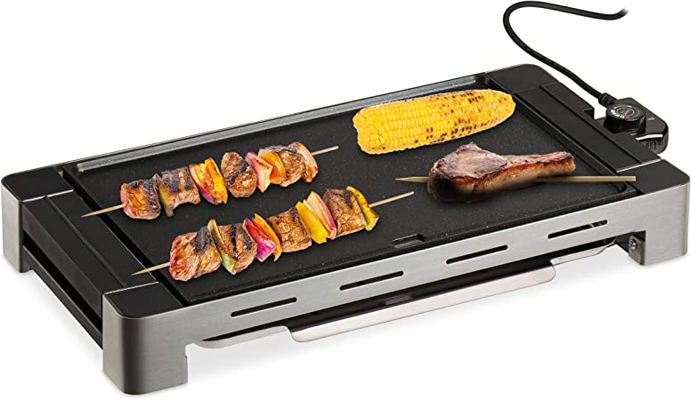 Relaxdays Plancha Cocina Desmontable, Grill Eléctrico 1500 W ...