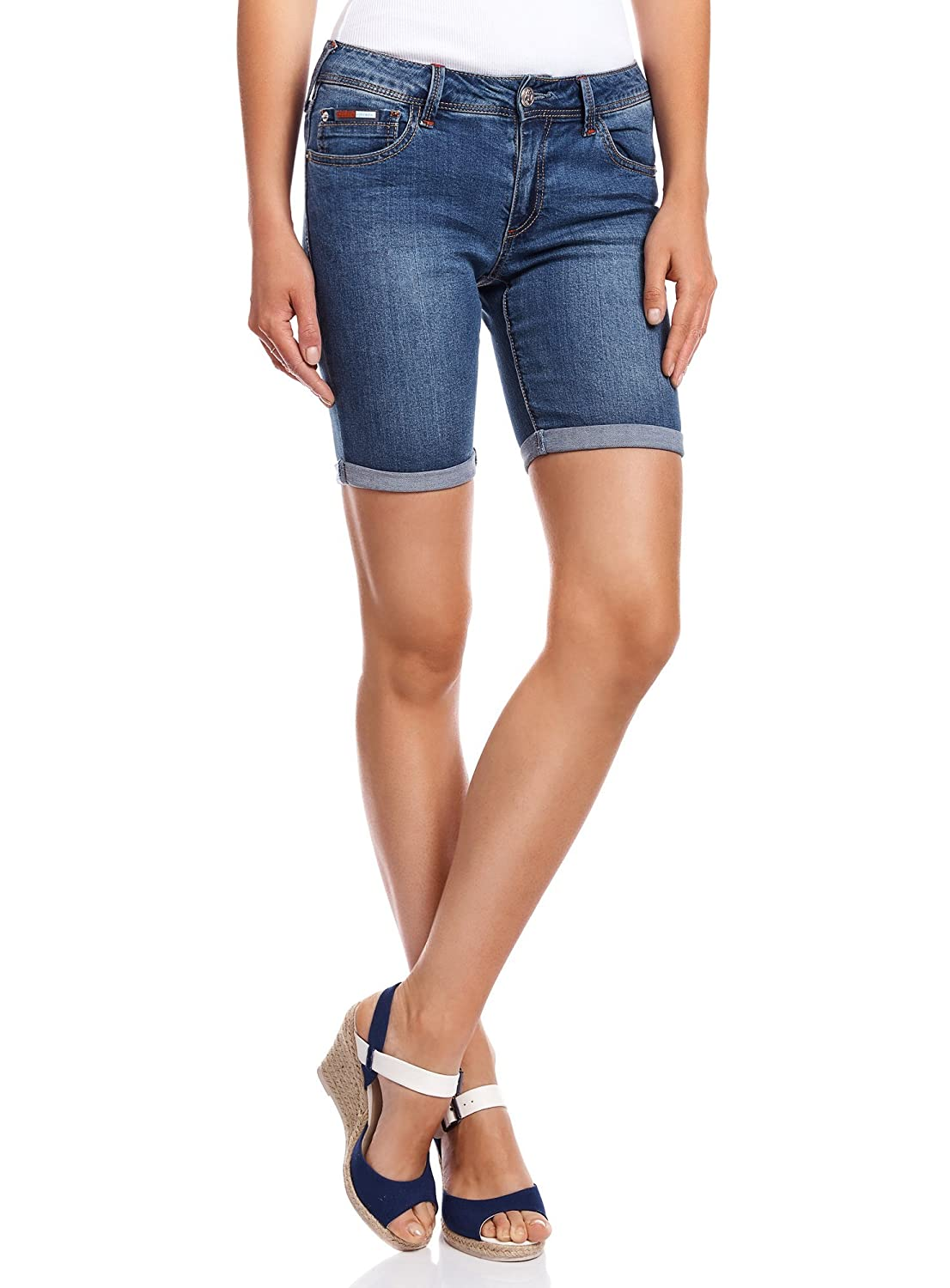 oodji Collection Donna Shorts Lunghi in Jeans RIFICZECH s.r.o. 22807011-2