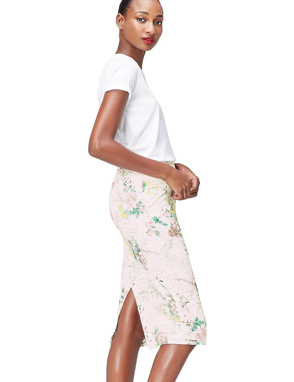 Marca Amazon - find. Falda de Encaje Estampada para Mujer: Amazon ...