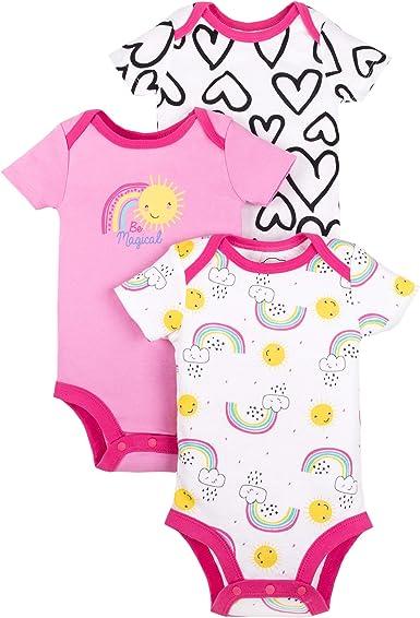 Snap Closure Lamaze Organic Baby Baby Girls Short Sleeve Cotton Bodysuit