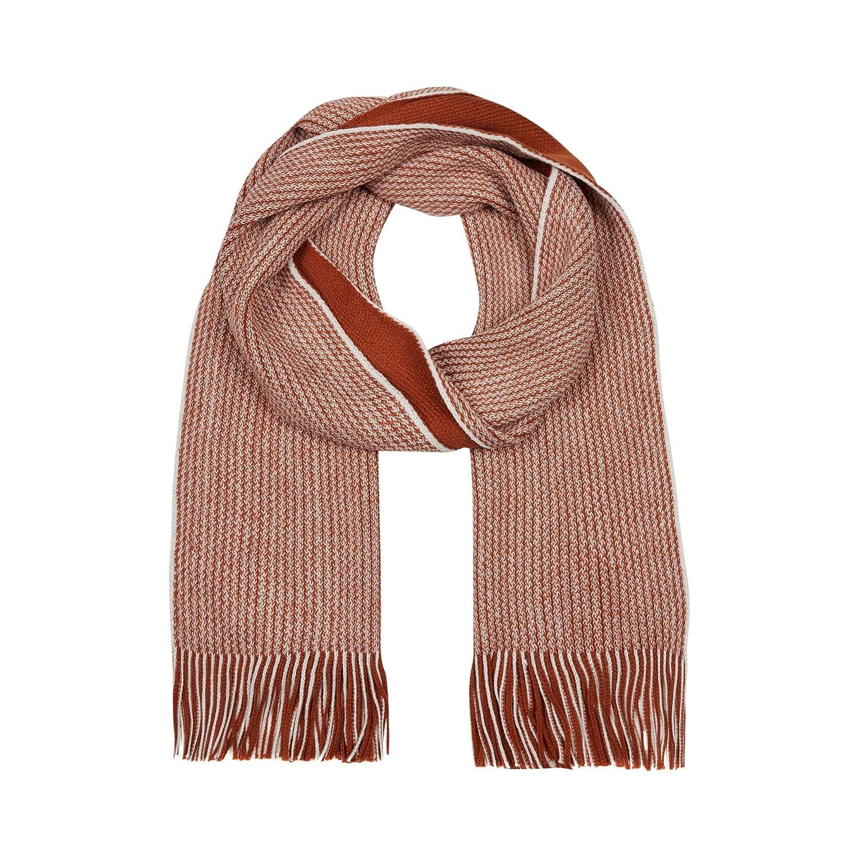 12cf00e9193 Red Herring Men Dark Orange Reversible Twist Knit Scarf One Size  Red  Herring  Amazon.co.uk  Clothing