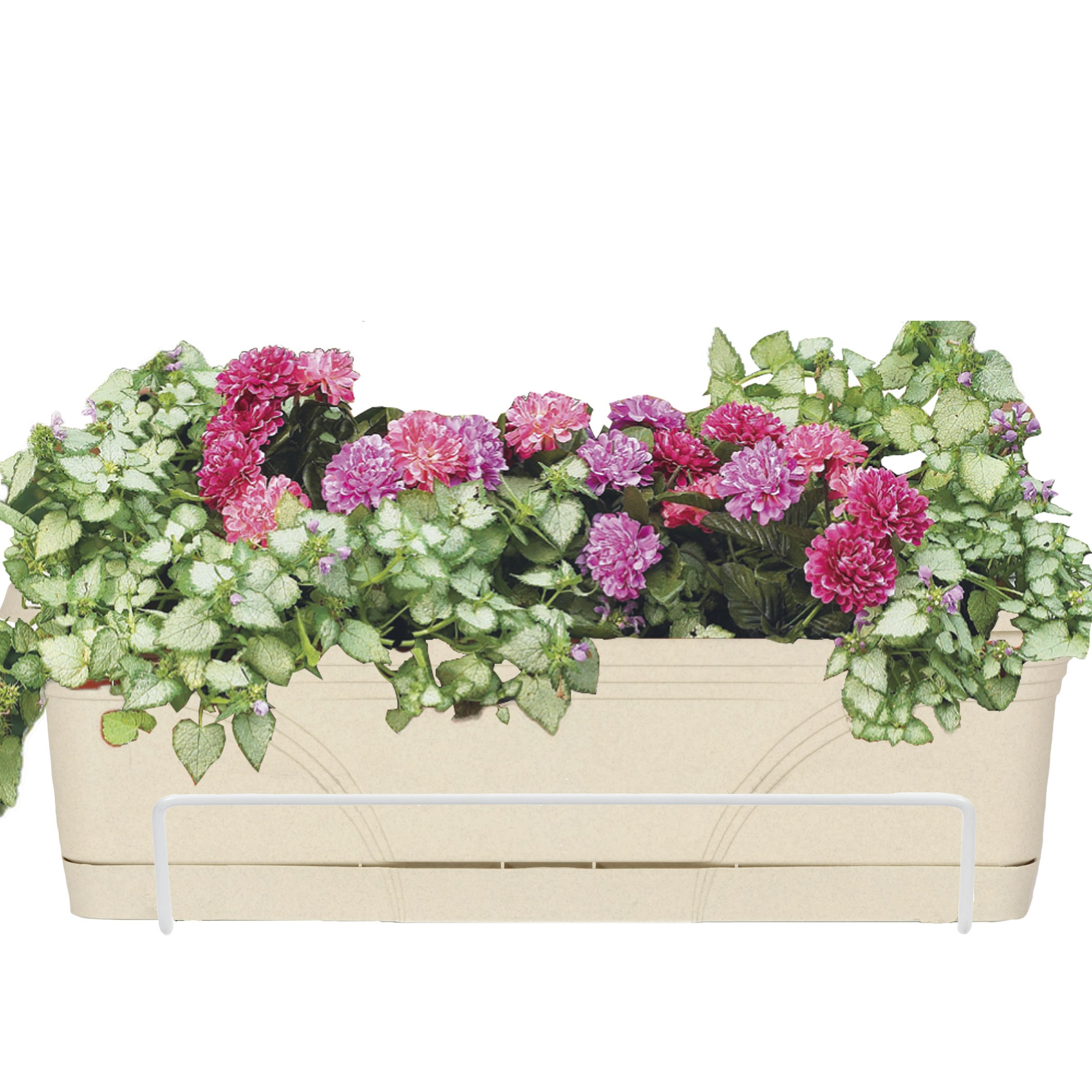CobraCo White Adjustable Open-End Flower Box Holder for Boxes of Size 18-Inch to 36-Inch (NO BOX INCLUDED) FOE26-W by CobraCo
