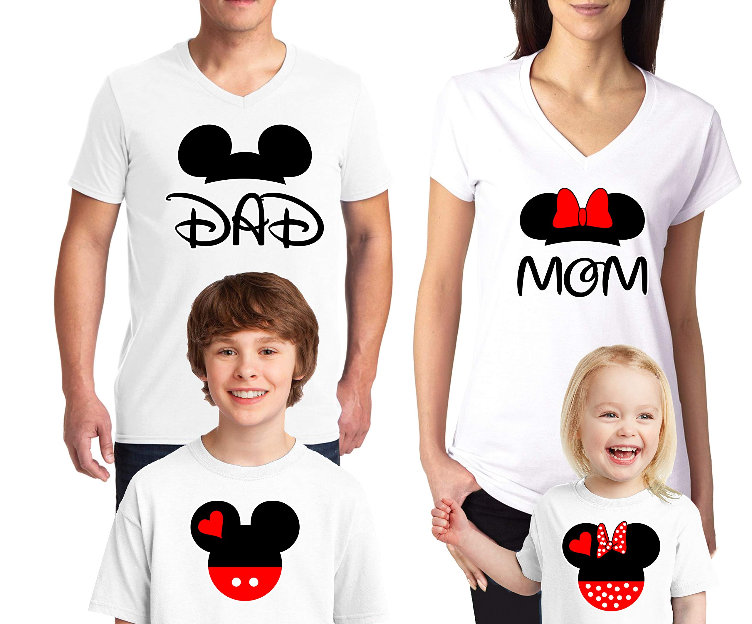 fd4224625608 Natural Underwear Family Trip #2 Mickey Mouse Minnie Mouse Ears Cotton Mom  Dad Family T Shirts Family Vacations 2019 V Neck T Shirts for Boys Girls  Women ...