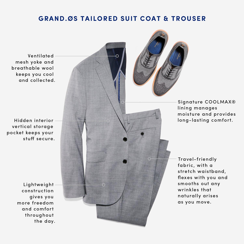 Cole Haan Mens Standard Slim Fit Suit