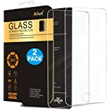 iPhone 5S Screen Protector,iPhone SE Screen Protector,[2 Packs]by Ailun,2.5D Edge Tempered Glass for iPhone 5/5S/5C/SE,Anti-Scratch,Case Friendly-Siania Retail Package