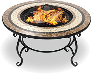 Centurion Supports Fireology Topanga Garden Heater Fire Pit Coffee
