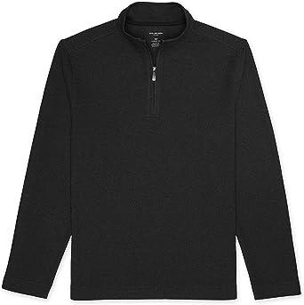 Van Heusen Mens Flex Long Sleeve 1//4 Zip Ottoman Solid Shirt Pullover Sweater