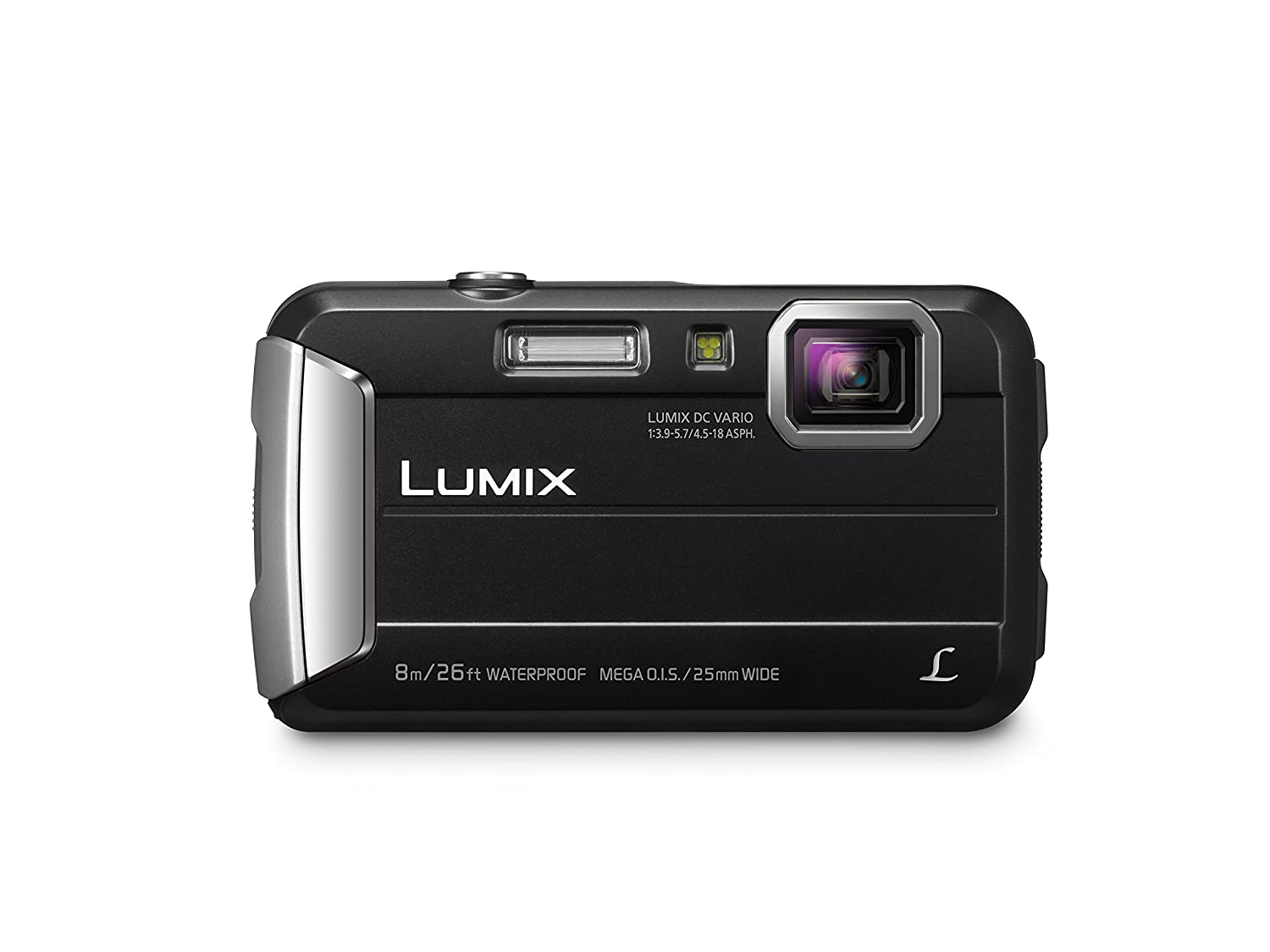 PANASONIC LUMIX Waterproof Digital Camera Underwater Camcorder with Optical Image Stabilizer, Time Lapse, Torch Light and 220MB Built-In Memory – DMC-TS30K (Black)