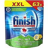 Finish All in 1 Citrus, Spülmaschinentabs, XXL Pack, 63 Tabs