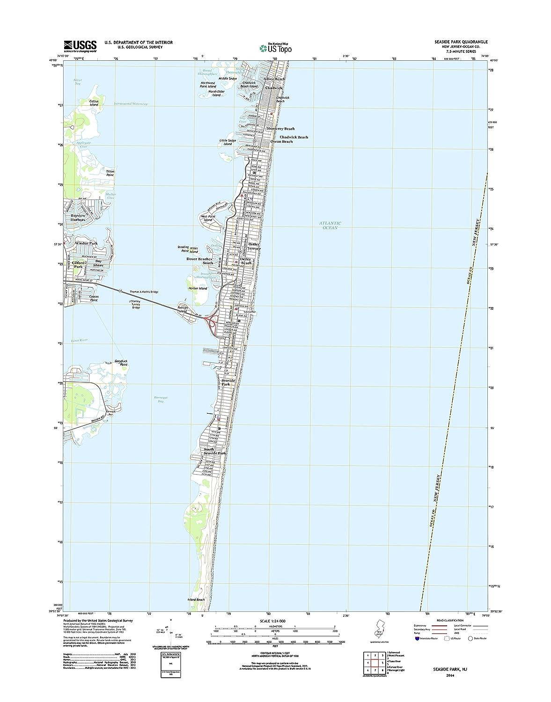 Amazon.com: Topographic Map Poster - Seaside Park, NJ TNM ... on redding nj map, pittsburgh nj map, hawthorne nj map, salem nj map, springfield nj map, fairview nj map, washington county nj map, medford nj map, richmond nj map, orange nj map, jersey shore map, newport nj map, new jersey coast map, radburn nj map, crater lake nj map, florence nj map, great falls nj map, avon nj map, nj beach map, spring lake nj map,