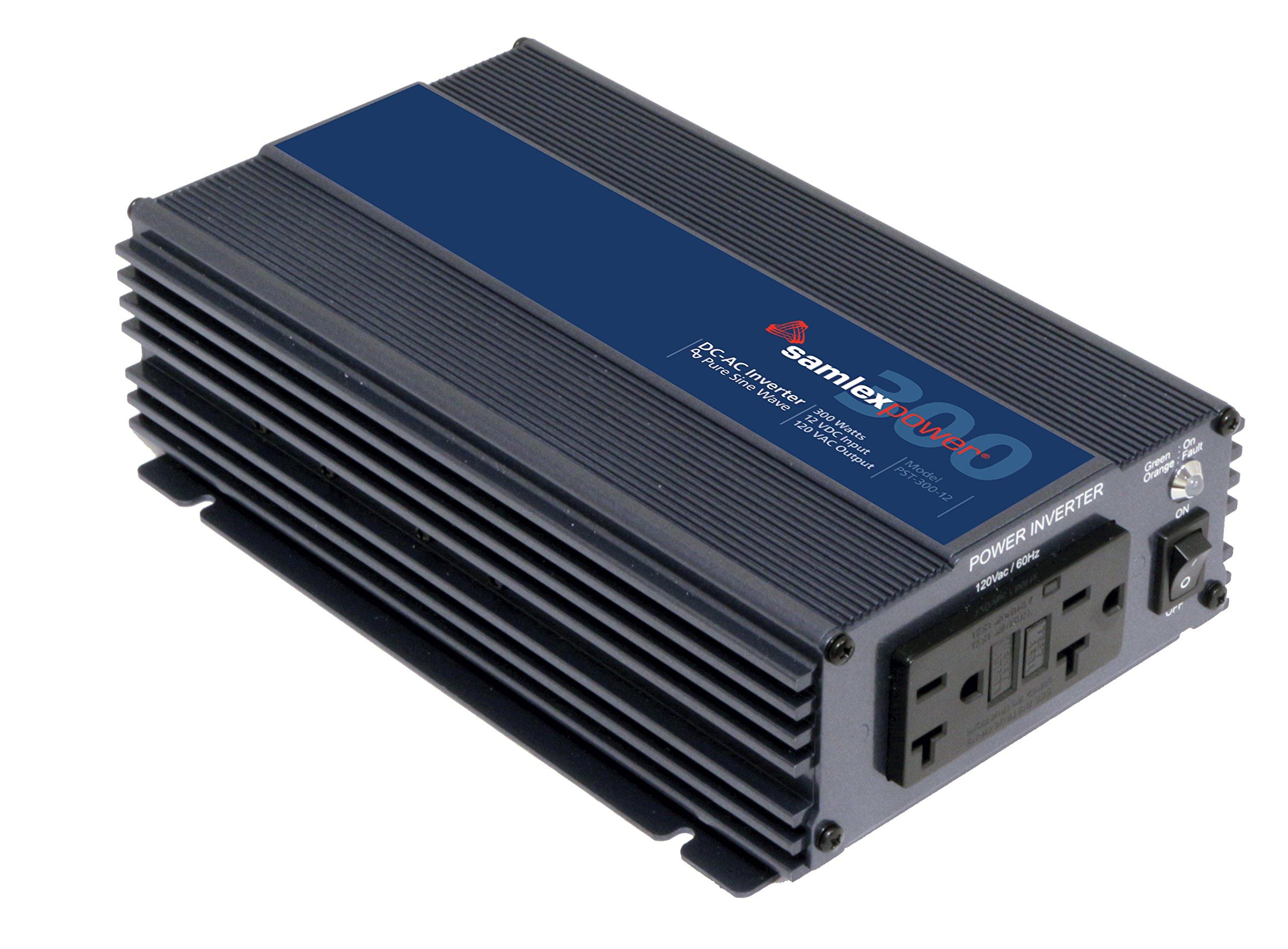 Samlex Pure Sine Wave Inverter..Input: 12 VDC, Output: 120 VAC, 300 Watts..ETL Safety Listed