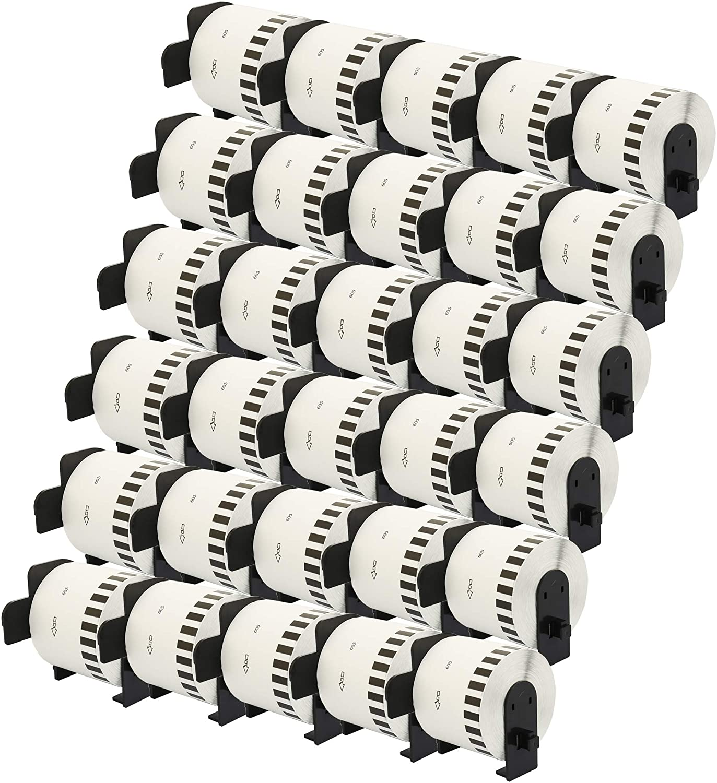 2x DK-22210 29 mm x 30,48 m Compatibili Etichette Nastri adesive continuo per Brother P-Touch QL-1110NWB QL-1100 QL-1060N QL-500 QL-500A QL-500BW QL-570 QL-580 QL-700 QL-710W QL-800 QL-810W QL-820NWB
