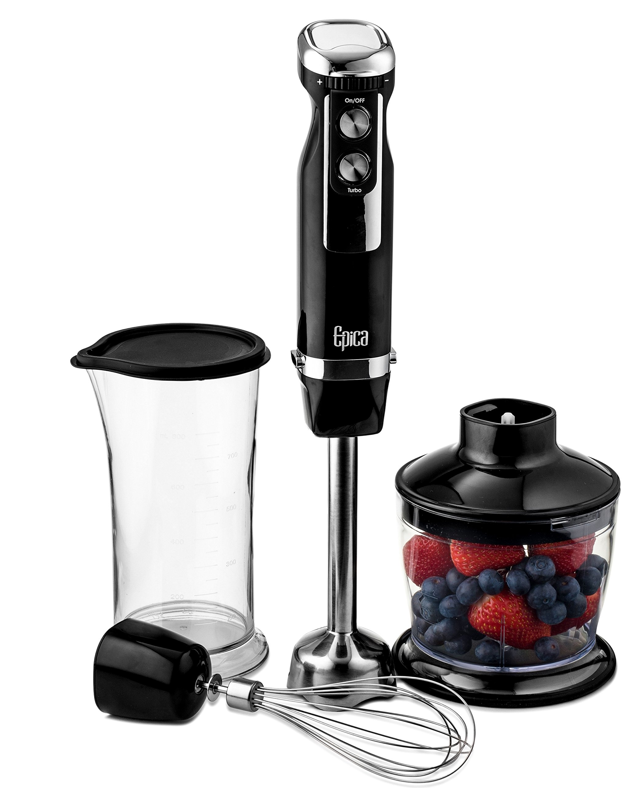 Epica Heavy Duty Immersion Hand Blender 4-in-1 by Epica