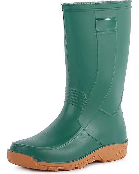 Ladeheid Botas de Agua Zapatos de Seguridad Mujer LABN11 (Verde, EU 36)