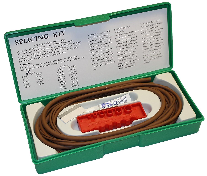 5 Pieces Black 70A Durometer 7 Feet Each Standard Sizes Buna-N O-Ring Splicing Kit