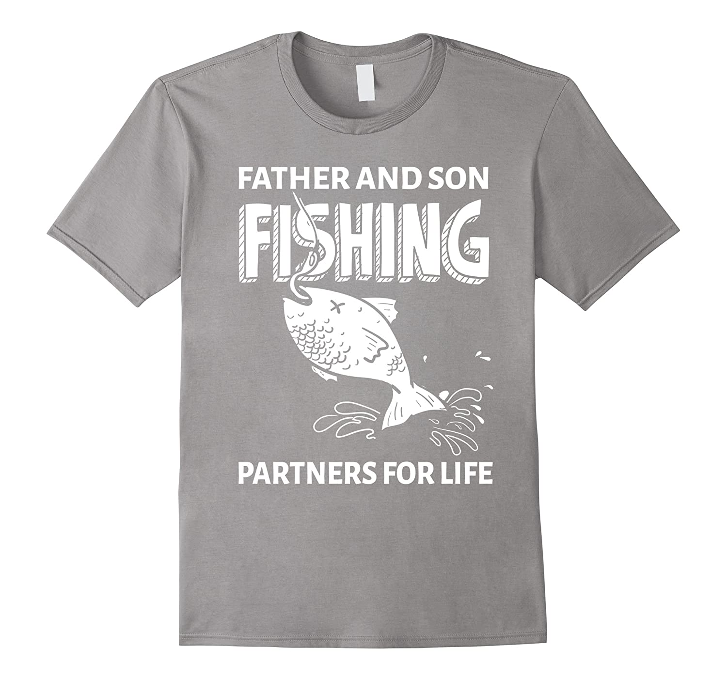 mens father and son fishing partners for life shirt proud