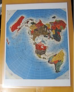 Amazon laminated army air forces azimuthal equidistant flat laminated freedom of the air azimuthal equidistant flat earth north polar projection air age map of gumiabroncs Images