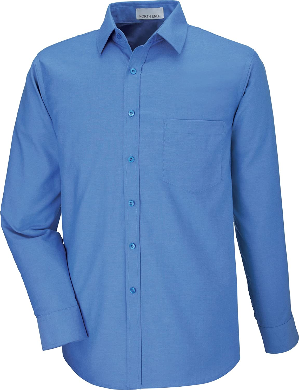 North End Mens Long Sleeve Oxford Shirt XXXXX-Large Deep Blue 87038
