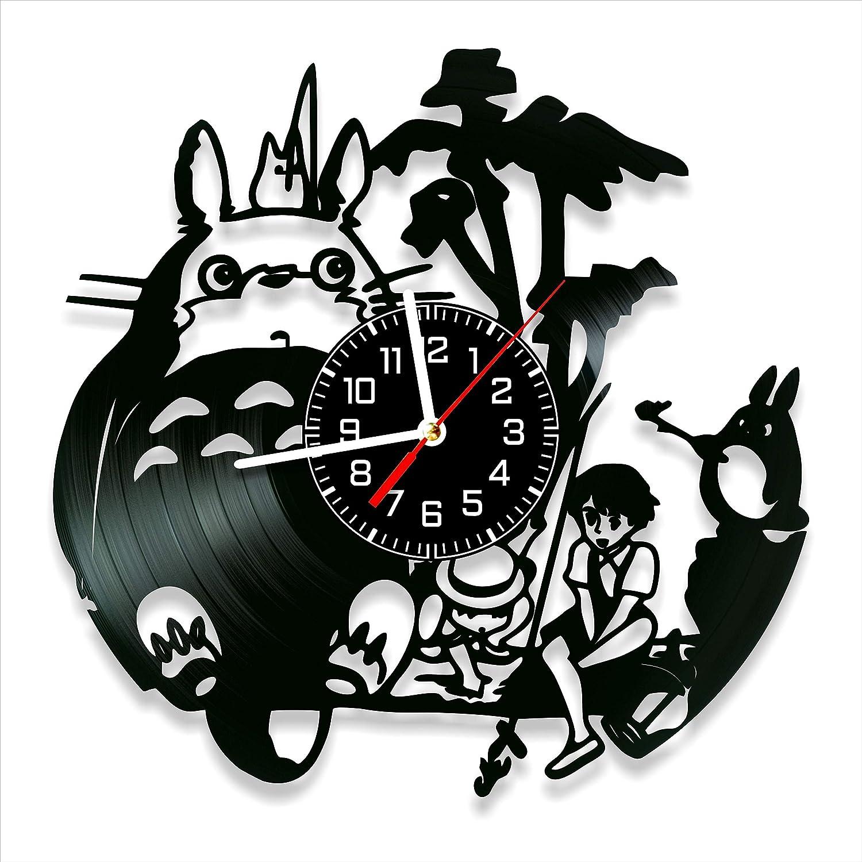Studio Ghibli Anime Vinyl Clock, Studio Ghibli Anime Wall Clock 12 inch (30 cm), Original Gifts for Fans Studio Ghibli Anime, The Best Home Decorations, Unique Art Decor, Original Idea for Home Decor