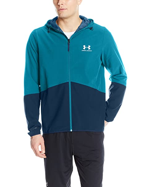 online store 9bd71 368cf Under Armour Men s Sport Style Wave Jacket, Bayou Blue  Silver, Small
