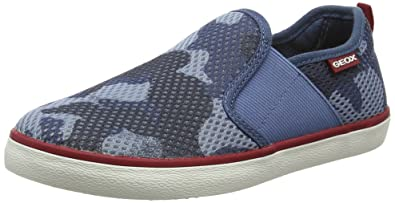 Geox Jungen JR Kiwi Boy K Low-Top, Blau (Navy/DK REDC4244