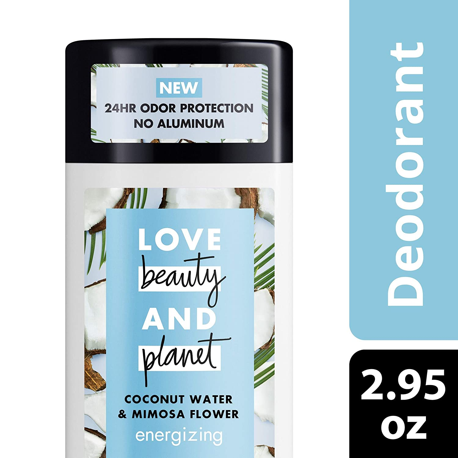 Love Beauty Planet Deodorant, Coconut Water and Mimosa Flower, 2 95 oz