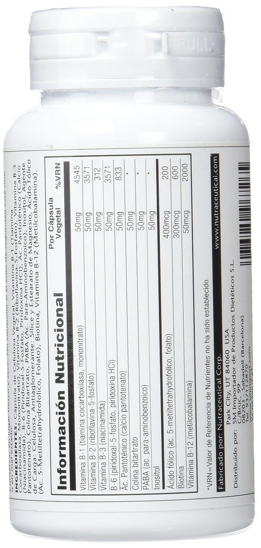 SOLARAY - COENZIMA B COMPLEX 50 60cap SOLARAY: Amazon.es: Salud y cuidado personal