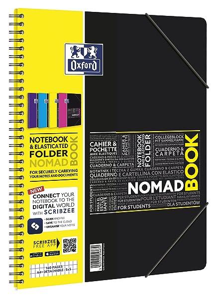 Oxford 400019522 Cuaderno de anillas A4, Multicolor, Paquete de 5 ...