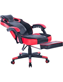 Killbee Ergonomic Swivel Executive Office Gaming Chair Height Adjustable, with Footrest, High-Back