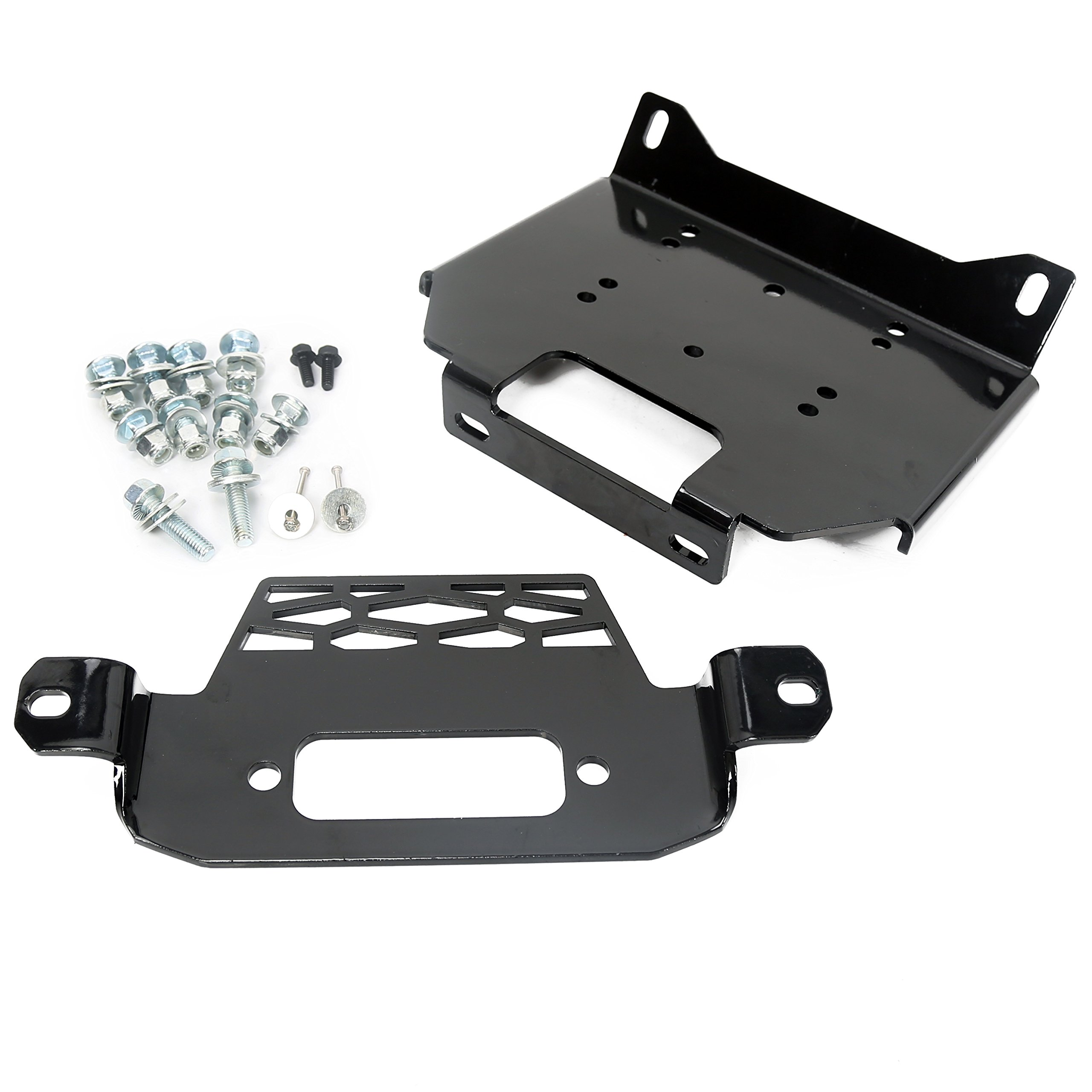 Winch Mount Plate Bracket for Polaris 15-18 RZR900&14-18 RZR 1000&General 101220 by ECOTRIC