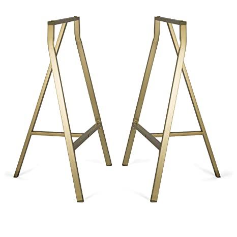 Amazon bhg sturdy crosscut trestle table legs 28 inch perfect bhg sturdy crosscut trestle table legs 28 inch perfect home office desk work station table gold watchthetrailerfo
