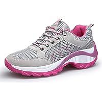KOUDYEN Femme Chaussures de Sport Baskets Lacets Basses Fitness Mesh Confortable Chaussure Running