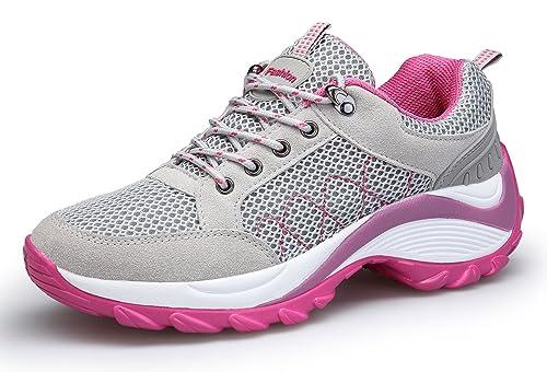 DAFENP Damen Sportschuhe Turnschuhe Atmungsaktiv Leichte Laufschuhe Mesh Sneaker Wedges