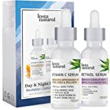 Day & Night Duo Bundle - Vitamin C Serum & Retinol Serum - Natural & Organic Anti Aging Formula for Face - Improve Skin…