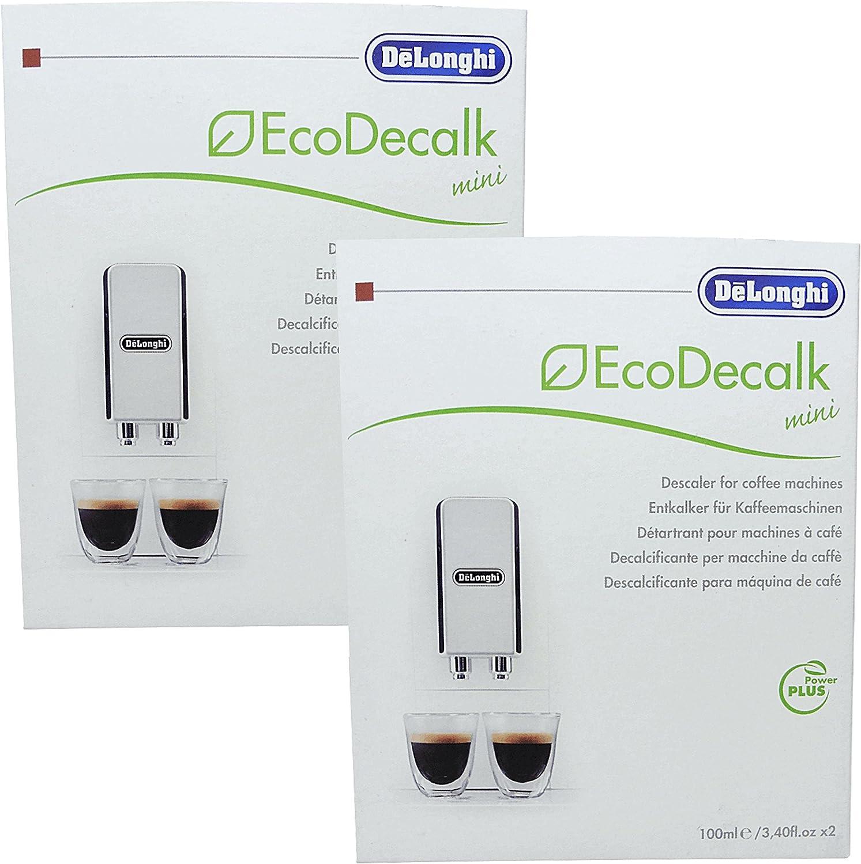 2 unidades DeLonghi Eco decalk Mini 2 x 100 ml para cafeteras ...