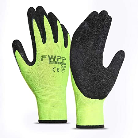 3-pack Work Gloves Breathable Non-slip Wear-resistant Latex Coated size XL