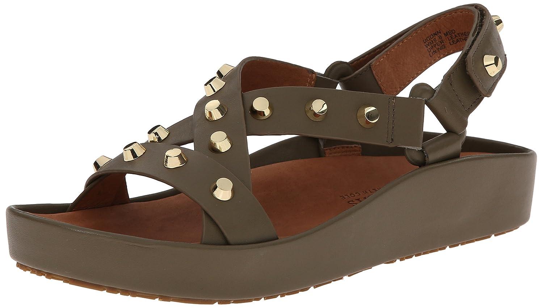 Gentle Souls Womens Uconn to Studded Platform Sandal Shoe, Silver, US 6.5 B00QUZ0X8I 5.5 B(M) US|Putty